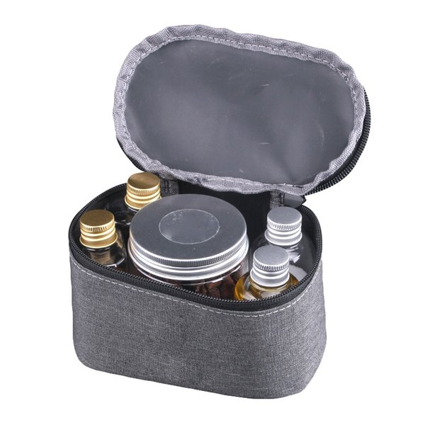 Portable Camping Bag Spice Cruets Seasoning Jar Pouch BBQ Organizer Condiment Bottles Set For Camping Barbecue Picnic GMT601