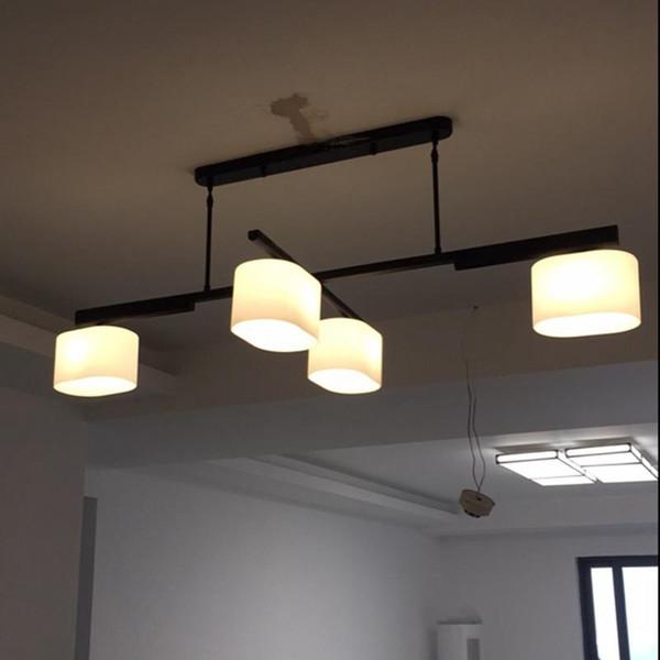 Nordic Rotate Pendant Light Restaurant Ceiling Hanging Lamp Kitchen Lighting Modern Light Fixtures Lustre Drum Pendant Lighting Pulley Pendant Light