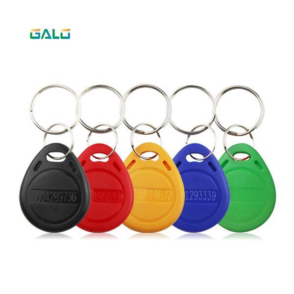 PORTA Reader 100pcs 125KHz RFID portachiavi visita adesivi modifica chiave Key ID fob TK4100 portello di controllo di accesso EM Key Chain Token