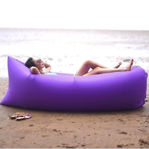 Portable light Waterproof Inflatable sleeping bag lazy sofa camping Sleeping bags air bed Adult Beach Lounge Chair Fast Folding