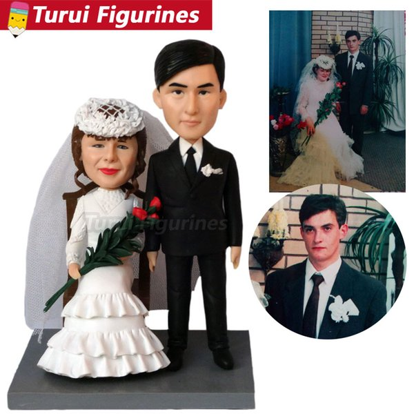 custom bobblehead family couple figurines moldeling clay dolls mini statue from your photos head-to-toe custom figurines dolls