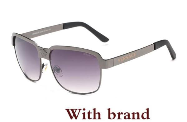 Qualität Classic Pilot Sonnenbrille Designer Mens Womens Sonnenbrille Eyewear Gold Metal Green Glass Lenses Brown Case
