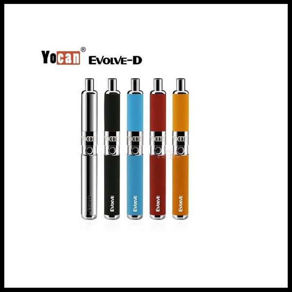 Original Yocan Evolve-D Starter Kit Dry Herb Pen Vaporizer with Pancake Dual Coils 650mAh Battery EGo Thread Atomizer Free Shipping