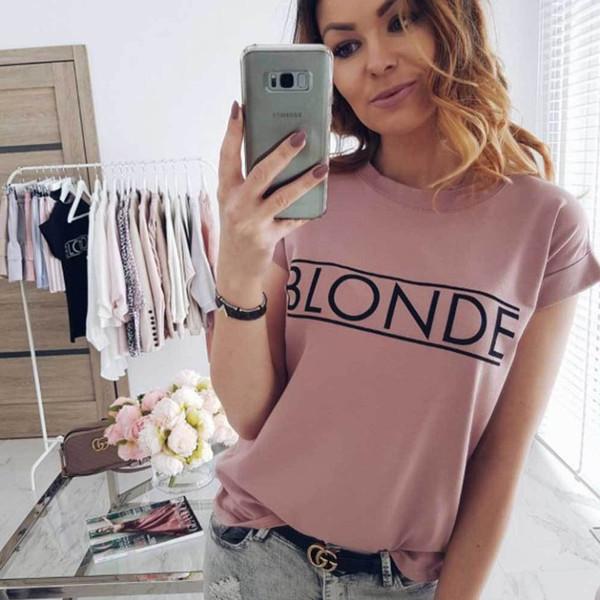 Maglietta basic da donna a manica corta Fashion Vogue Maglietta casual estiva Maglietta Feminina Hipster Tumblr Harajuku Maglietta di marca Dames Kleding