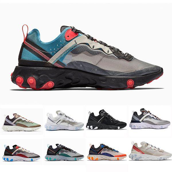 TOP Nike Air max 87 Epic React Element Undercover Hommes Escalade Chaussures Pour Femmes escalade Sport Hommes formateur Chaussures Voile Light Bone