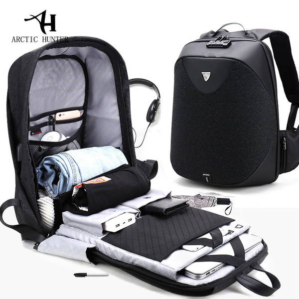 New Anti-theft 15.6 Laptop Men Bag School Password Lock Backpack Waterproof Casual Business Travel Male Backpacks