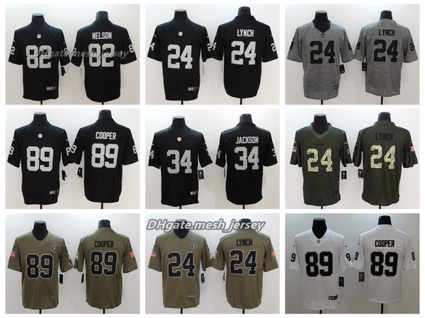 super popular 81641 9d6c6 2019 Men Oakland Jersey Raiders 34 Bo Jackson 24 Marshawn Lynch 89 Amari  Cooper 82 Jordy Nelson Color Rush Football Jerseys Embroidery From Yengoh,  ...