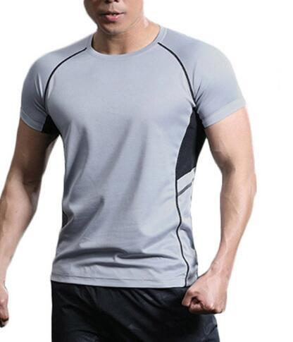 Man's Quick Dry T Shirts Camping Hiking Tees Climbing Fitness Sport Tshirts Running Cycling Tops with high quality