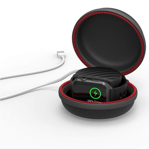 Tasche für Apple Watch harte Schutzhülle zum Aufladen Dock Station-Halter Ladeclip kompatibler iWatch Box kompatibler Apple Watch