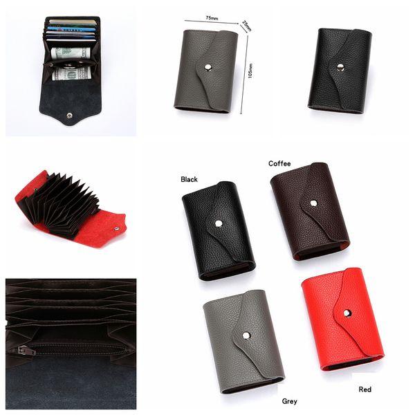 4 estilos Titular de la tarjeta de visita RFID Billetera Banco Tarjeta de crédito Estuches con ID de la tarjeta Monedero Organización Caso Caso regalo de navidad cremallera cartera FFA1405