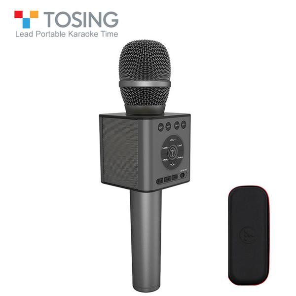 TOSING Q12 Concept Karaoke-Funk-Bluetooth-Mikrofon mit FM-Auto-KTV-Chorus-Modus Paarung USB-Rauschunterdrückung Begleitung