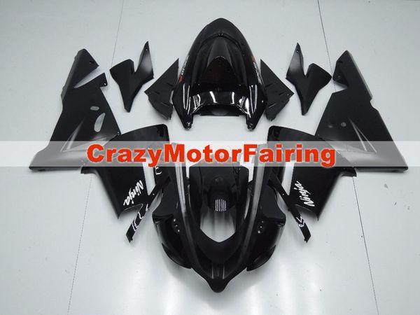 Neue ABS Motorrad Verkleidungssätze der hohen Qualität gepasst für kawasaki Ninja ZX10R 2004 2005 ZX-10R 04 05 kundenspezifische Verkleidungsschwarzes der Karosserie Heiße Verkäufe!