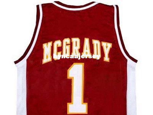 Mens economici TRACY McGRADY MOUNT ZION HIGH JERSEY SCOLASTICO NEW ANY SIZE XS - 5XL Retro Basketball Jerseys NCAA College