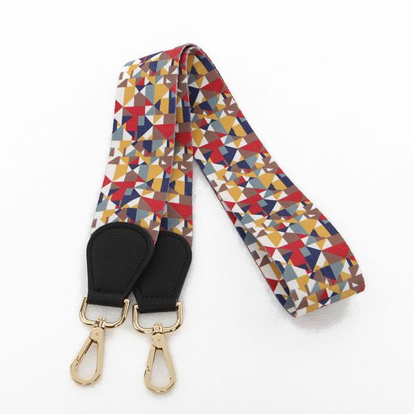 Vintage Long Handbag Strap Fabric Colorful Flower Chain Shoulder Bag Accessory Wide Belt Strap Holder For Cross Body Bag