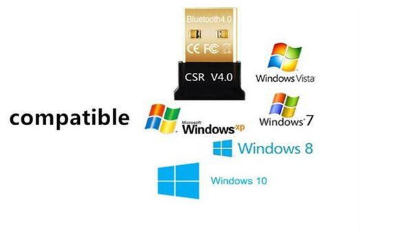 Мини USB Bluetooth адаптер V4.0 Двойной режим Беспроводной Bluetooth Dongle CSR 4.0 Windows 10 8 Win 7 Vista XP 32 64