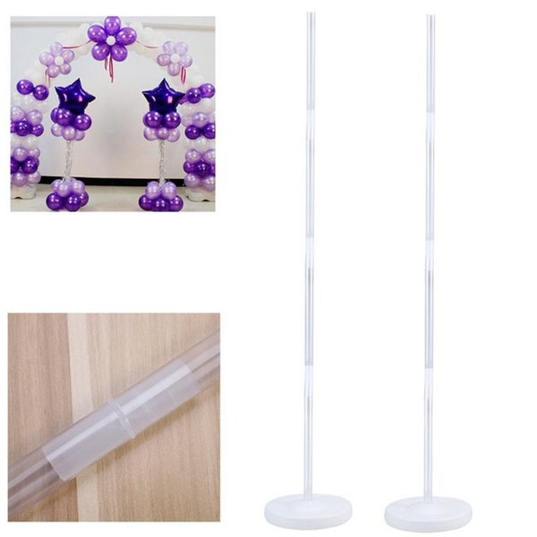Balloon Column Stand Kits Arch Stand with Frame Base and Pole for Wedding Birthday Party Decoration Dropshipping