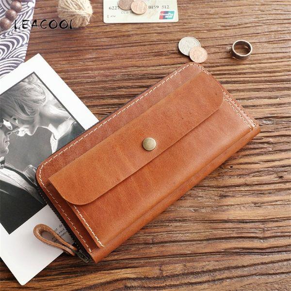 Men Leather Bifold Money Card Holder Wallet Coin Bag Clutch Pocket Long Purse