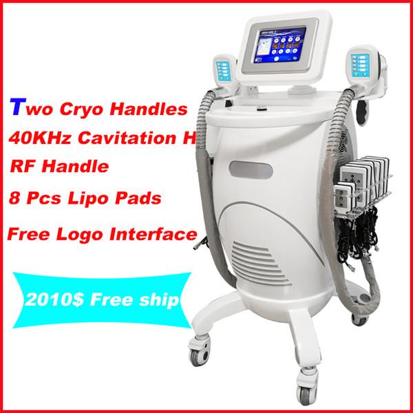 5 EM 1 Máquina de congelação de gordura lipo laser cryolipolysis cavitação de lipoaspiração RF para corpo e rosto cryolipolysis máquina de perda de peso