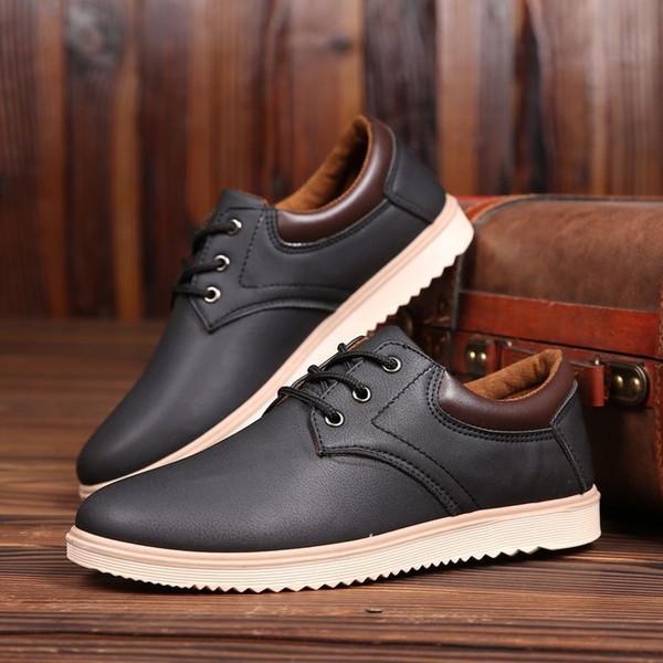 Novos homens se vestem sapatos formais sapatos dos homens de negócios feitos à mão de casamento tamanho grande couro genuíno lace-up masculino ghn89