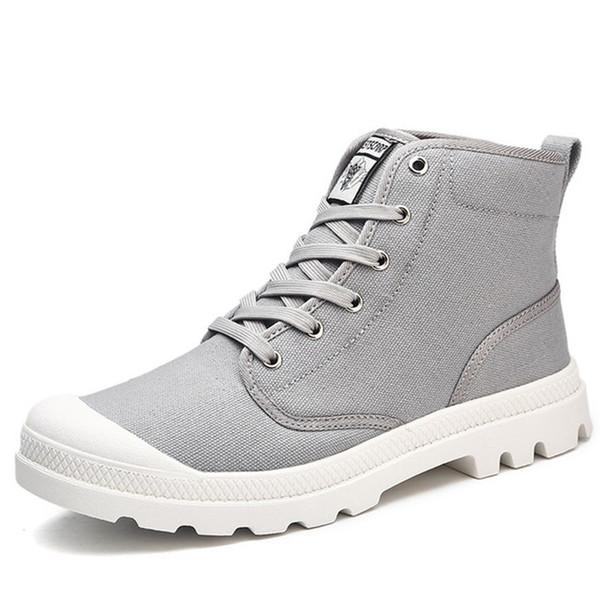 New Canvas Men Boots Canvas Ankle Boots Men Fashion Casual Men'S Boots High Quality Canvas Casual Shoes Men