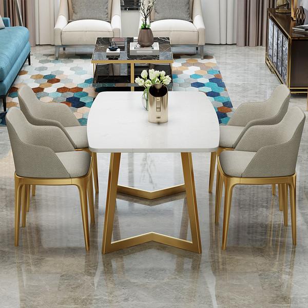 Nordico tavolo da pranzo in marmo moderno semplice piccola famiglia ristorante di casa mobili ristorante personalizzato tavolo da pranzo combinazione sedia