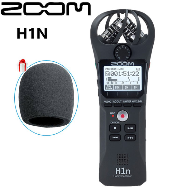 Updated ZOOM H1N Pen Handy Recorder Digital Audio Recorder Stereo Microphone for Video Interview DSLR Camera Recording