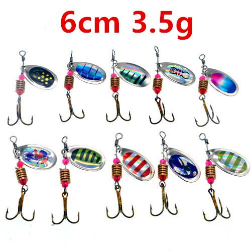 top popular 6cm 3.5g Spinner Fishing Hooks Fishhooks 6# Hook Fishing Lure Metal Baits & Lures Pesca Fishing Tackle Accessories Wholesale_11 2020