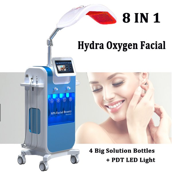 8 in 1 Auqa Oxygen Jet Spray Machine Hydro Dermabrasion water peel Oxygen Facial Skin care machines
