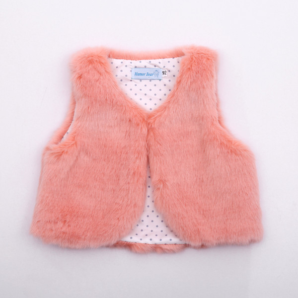 2019 baby girls clothes cotton fake fur vests autumn winter outer wear fashion girls boys clothing thumbnail