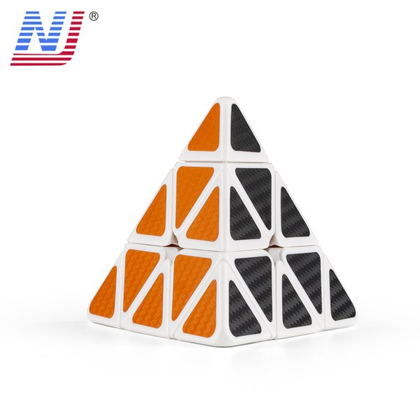 Pyramid Magic Cubes Professional Sticker with Carbon Fiber 3x3x3 Rubic Cube Magic Cube Puzzle Neo Cubo Magico Kids Toys
