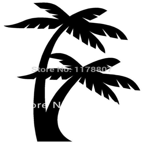 HotMeiNi Wholesale 20pcs/lot Palm Trees Sticker For Car Rear Windshield Truck SUV Bumper Auto Laptop Kayak Canoe Art Decal 8 Colors