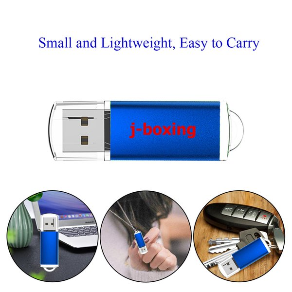 Bulk 20pcs Rectangle 4GB USB 2.0 Flash Drives Flash Pen Drive High Speed Memory Stick Thumb Storage for Computer Laptop Tablet Multicolor