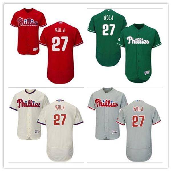 2018 Philadelphia Phillies Jerseys #27 Aaron Nola Jerseys men#WOMEN#YOUTH#Men's Baseball Jersey Majestic Stitched Professional sportswear