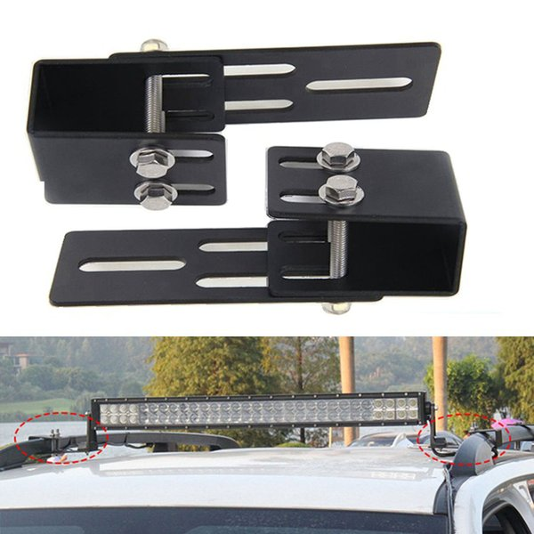 Portable Brackets for Roof Rack Crossbar Luggage-rack Top Windshield Mounting Brackets for Led Light Bar and Led Work Light