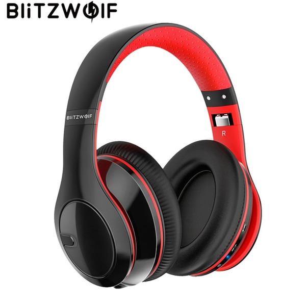 Blitzwolf Sem Fio Bluetooth Fones De Ouvido Estéreo Dobrável Sobre A Orelha Fone De Ouvido Fone De Ouvido Com Microfone Para Telefones E Música Tablet T6190612