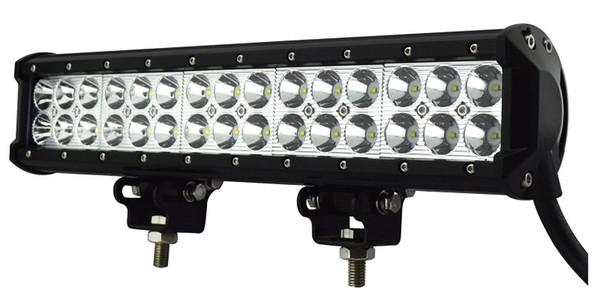 Vente chaude 15 Pouce 90W Dual Row LED Barre de lumière Hors Route VTT Bateau Bateau UTV Jeep Train Conduite Travail Barres Lumineuses