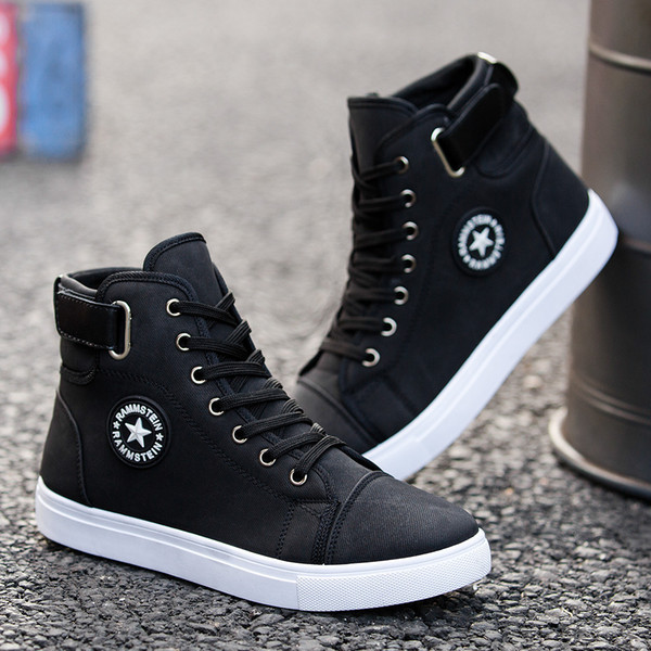 Men's Sneakers 2019 New Men's High-top Fashion Casual Men's Shoes Students Spring And Autumn Sports Boots