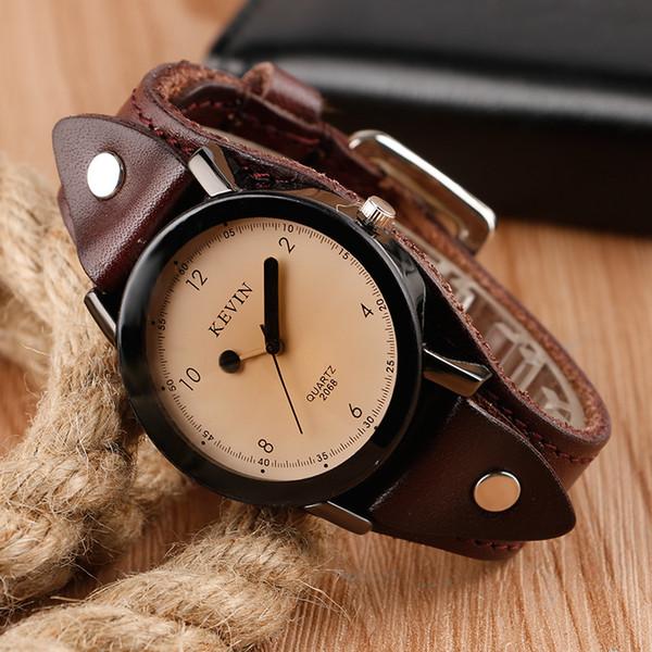 Chic Style Creative Fashion Wrist Watch Women Steampunk Clock Leather Band Strap Quartz-watch Lady Analog Dress Watch