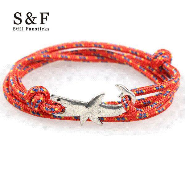 Viking Bracelet Shark Rock Bracelets For Women Handmade DIY Gift Men Jewelry Bracelets & Bangles Best Friend Charm Wristband