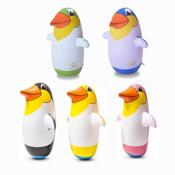 Pinguini gonfiabili belli Bicchiere Pinguino Bicchieri Forma di cartone animato PVC Animali Daruma Bambino Giocattoli per bambini Nuovo arrivo 4 26mh4 O1