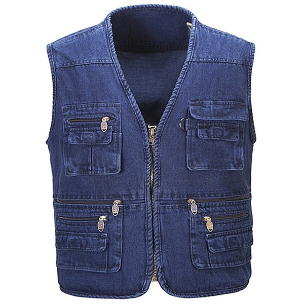 Men Denim Vest Spring and Summer Autumn Cowboy Sleeveless Male Waistcoat Short Style Mens Denim Vests Outerwear Designer S2785