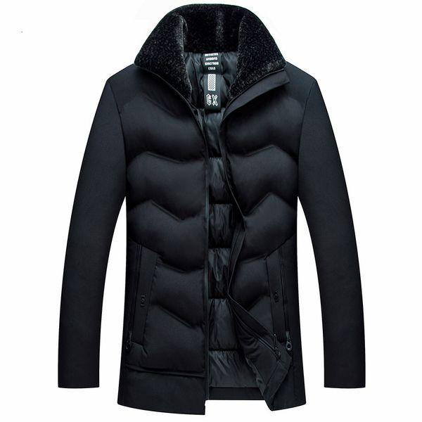 Winter-Baumwolljacke der neuen Männer Qualitäts-starker warmer beiläufiger winddichter Vati-Daunenjacke-langer Mantel-Parka Größe 5xl
