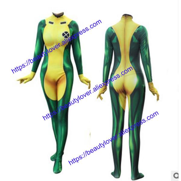 Costumes X-Men Vampira Cosplay 3D Printing Lycra Spandex Sexy Catsuit Zentai Mulher Halloween partido Xmen