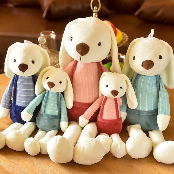 Lovely plush toy long ears rabbit dolls Stuffed Animals Children toys Couples hold pillow Christmas gift wholesale