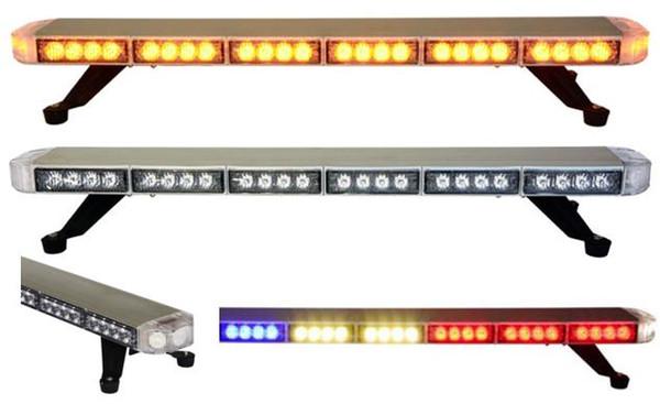 Trasporto libero di alta qualità sottile veicolo stroboscopico lightbar auto flash strobe lightbar tetto top mount barra luminosa a led auto barra luminosa di avvertimento