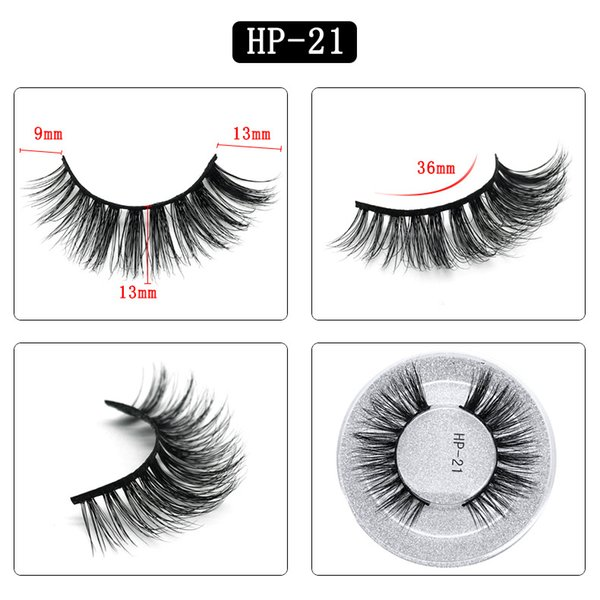 3D mink hair false eyelashes S21 single pair round box packaging eyelashes Europe and the United States thick natural factory direct sales