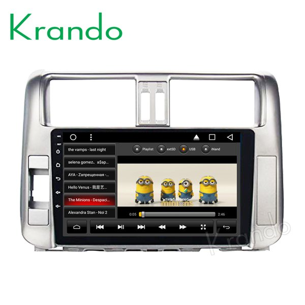 "Krando Android 8.1 9"" IPS Full touch car dvd Big Screen Navigation system for Toyota Prado 150 2010-2013 audio player Radio gps BT wifi"