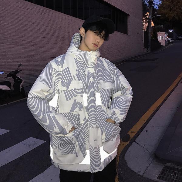 Uomini giacca invernale caldo imbottito moda stampa cappotto con cappuccio uomo casual cotone allentato Parka vestiti maschili di alta qualità streetwear M-2XL