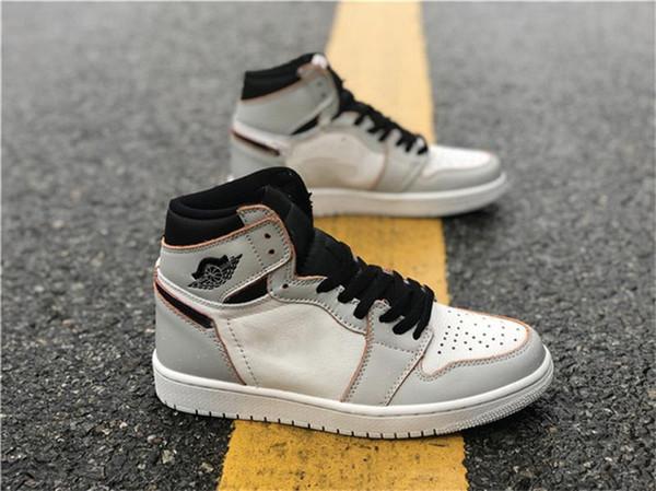 Alta Qualidade 1 Alta OG Desafiante SB Homem Basquete Sapatos de Grife de Osso Claro Carmesim Matiz Hiper Rosa Preto Moda Esporte Tênis a05