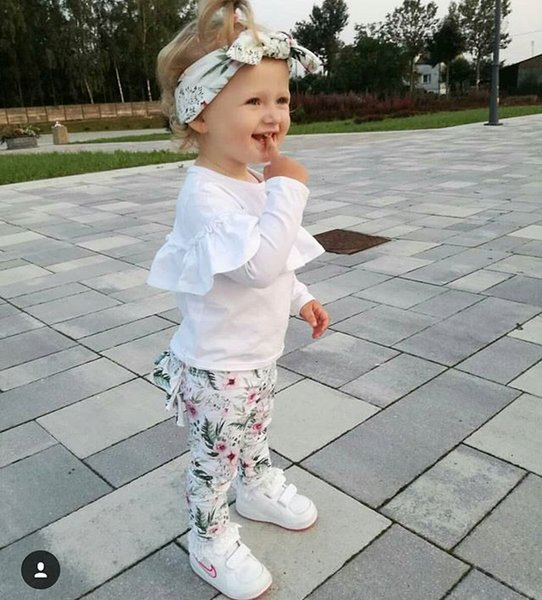 Children Clothing Toddler Kids Baby Girl Ruffle Tops Floral Long Pants Headband Outfits Girls Clothes Set Children Clothing Toddler Kids Baby Girl Ruffle Tops Floral Long Pants Headband Outfits Girls Clothes Set